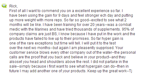 Hyper Gain Review & Testimonial